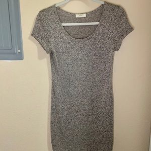 Gray neutral toned scoop neck dress